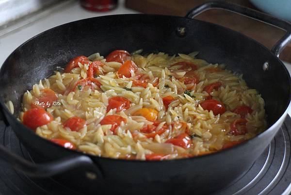 番茄鮮蝦義大利米粒麵