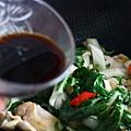 青江菜爆炒雞肉