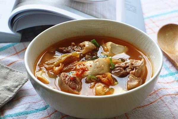 韓式泡菜豆腐燉雞