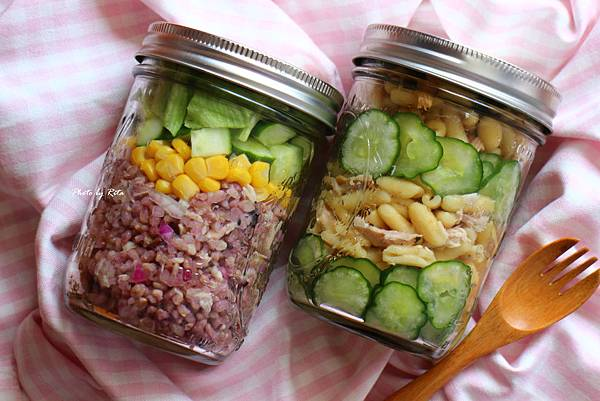 糙米鮪魚玉米沙拉、山葵鮪魚佐美奶滋通心粉