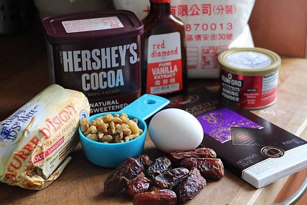 洛琳式巧克力、椰棗與核桃瑪德蓮