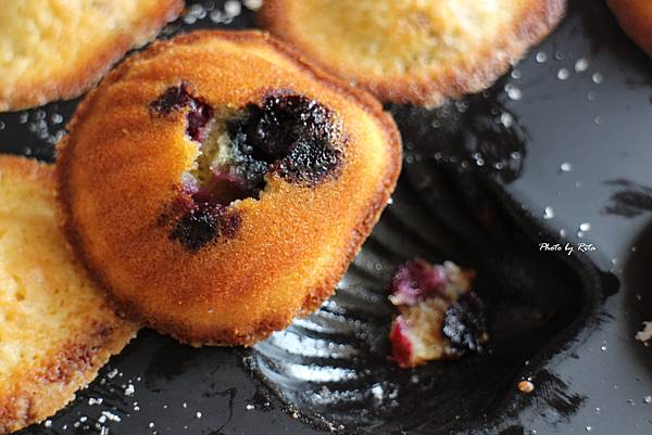 藍莓鮮奶油瑪德蓮