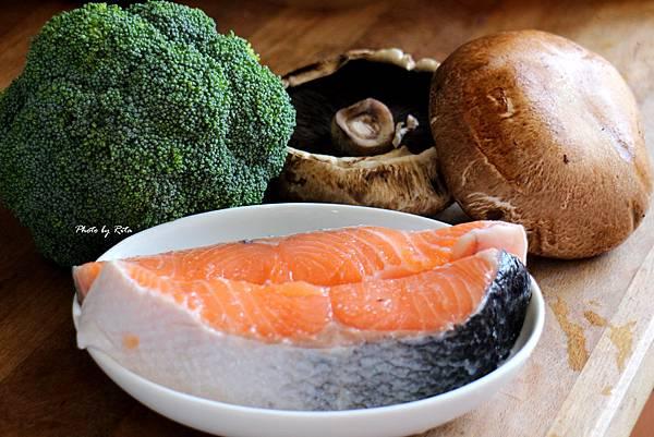 鮭魚波特菇堡