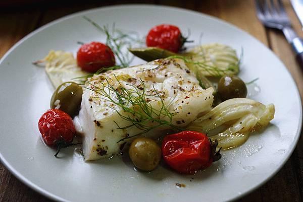 番茄烤鱈魚