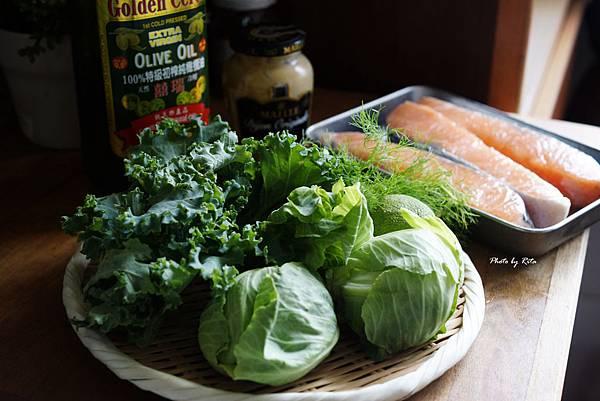 甘藍烤鮭魚