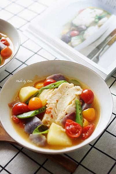 水煮鱈魚番茄