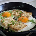 素炒飯:芝麻豆腐和香辣蛋