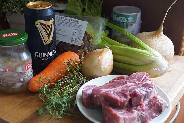 健力士啤酒燉牛肉配芥末珍珠麥