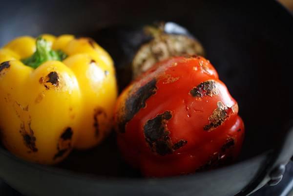 烤甜椒普切塔