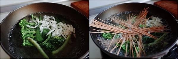 蔬菜拉麵佐核桃味噌、韓式泡菜與煎蛋