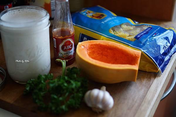 奶油南瓜起司螺旋麵