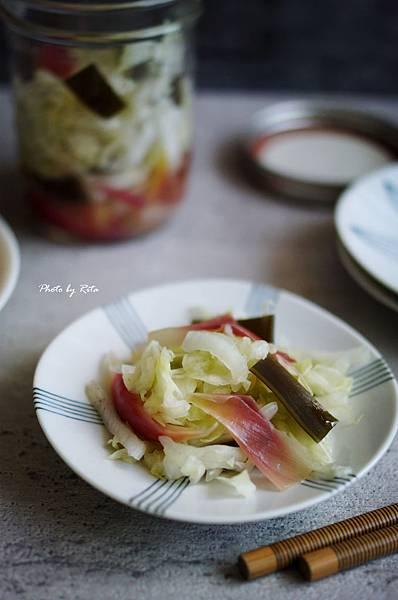 和風淺漬白菜與茗荷