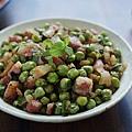 豌豆和義式培根