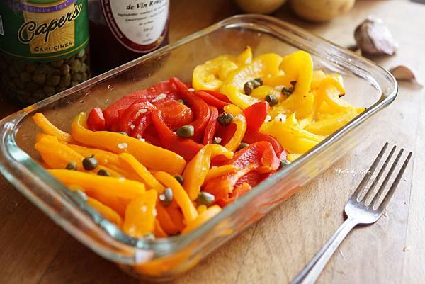 酸豆拌甜椒