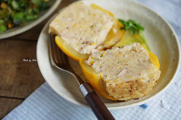 圓櫛瓜鑲鮪魚