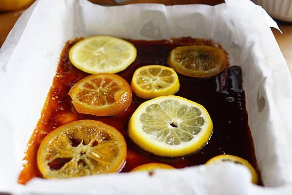 綜合柑橘翻轉蛋糕