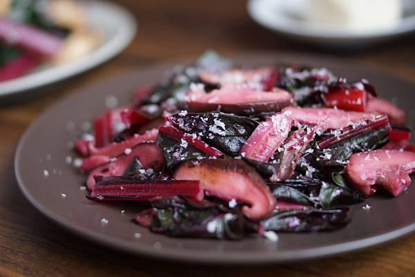 快炒莙薘菜與香菇