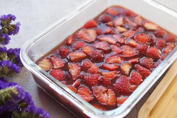 草莓紅酒凍