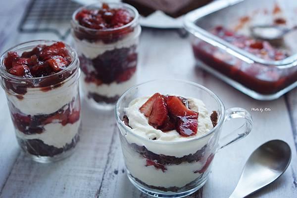 巧克力草莓紅酒凍英式查佛