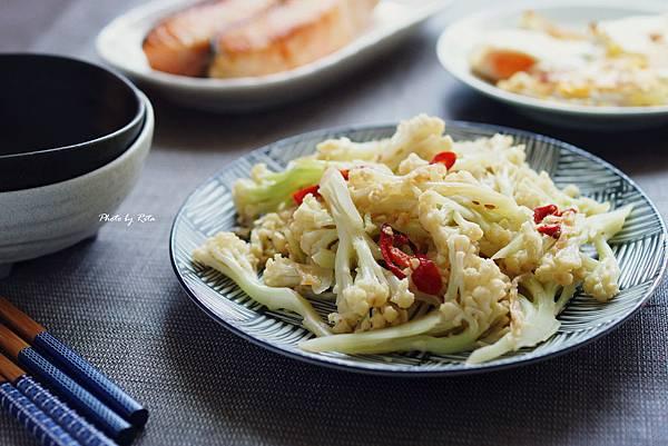 冬菜炒甜莖花椰菜