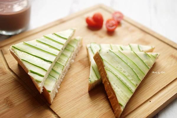 清爽小黃瓜三明治