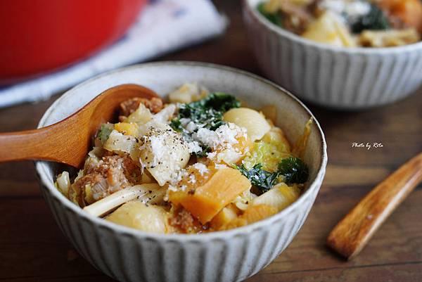 番薯香腸燉湯