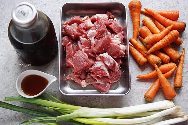 胡蘿蔔炒梅花肉