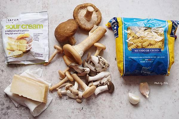 蒜香蘑菇麵