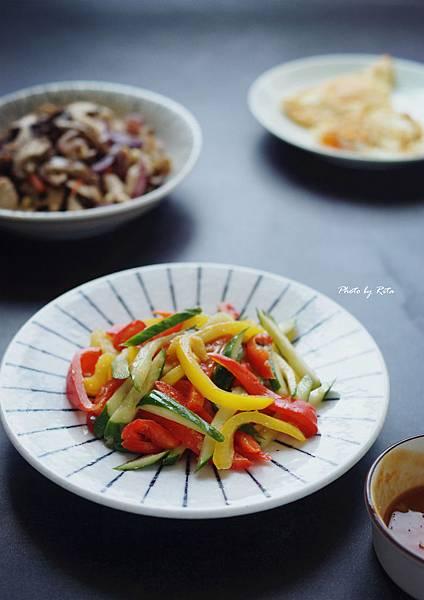 涼拌甜椒小黃瓜