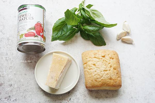 番茄麵包湯
