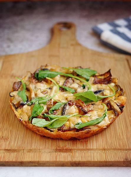 義式蘑菇培根蛋餅