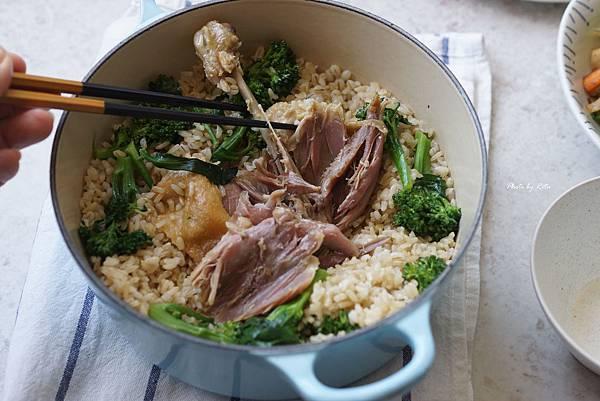 油封鴨青花菜筍炊飯