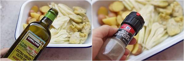 香烤馬鈴薯與朝鮮薊