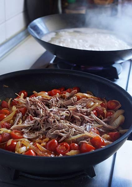 油封鴨義大利麵