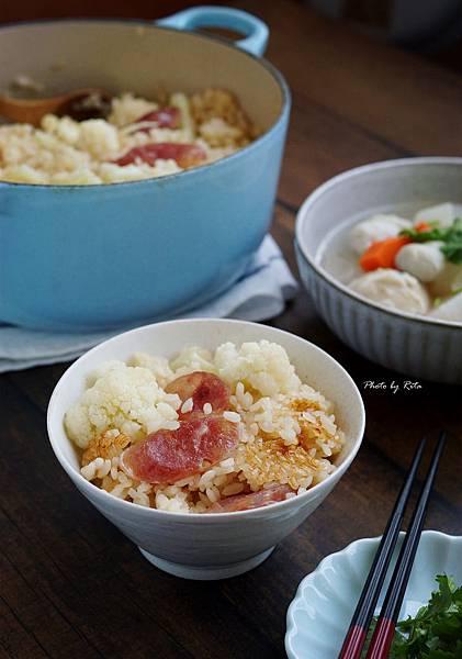 花椰菜臘腸炊飯
