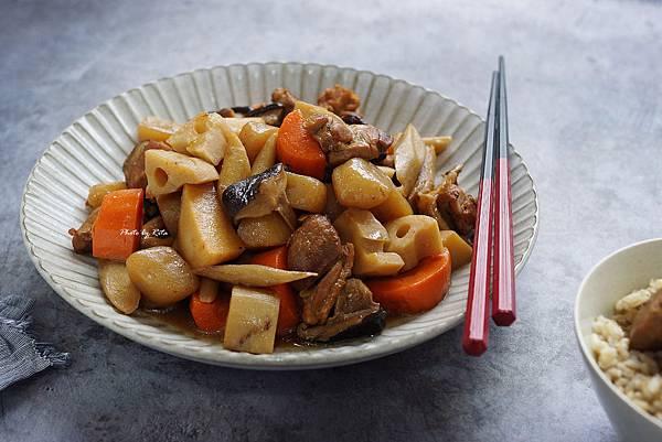 根菜滷雞肉