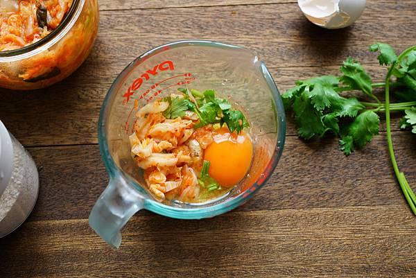 泡菜燕麥煎餅