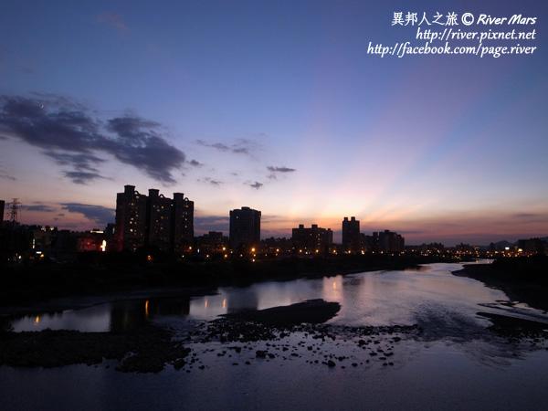 永和河畔的夕陽餘暉