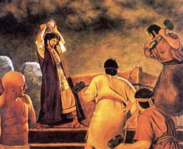 約西亞毀壞一切褻瀆上帝的東西