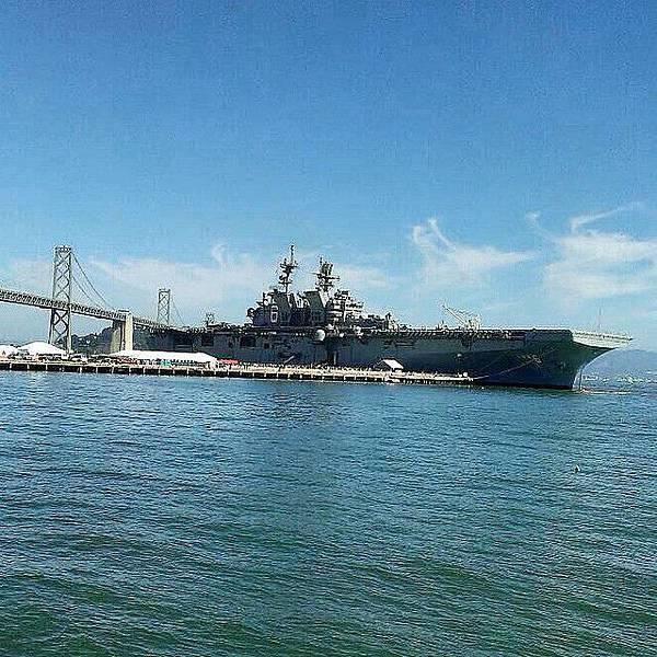 舊金山 28號碼頭的艦艇停泊活動