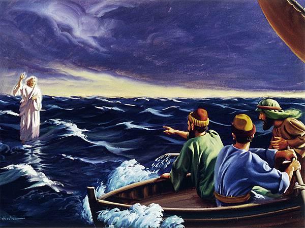 耶穌在海上行走