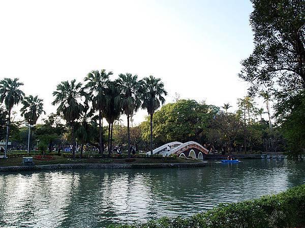 台中公園的湖和橋