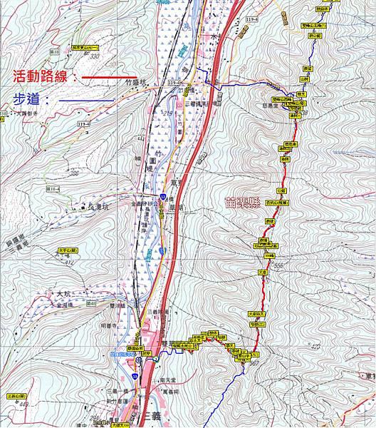 三角山雙峰山地圖