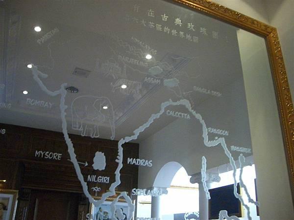 鏡子上的地圖