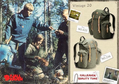 1. Fjallraven Vintage 20 G1000復古雙肩背包500