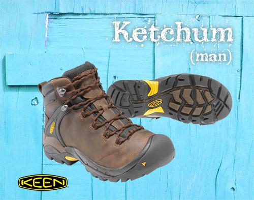 4.Yes!秋冬也穿KEEN!KEEN秋冬新鞋款完整報導_Ketchum高筒防水健行鞋(咖啡)男款,再加上深達4.5mm的多向式鞋紋,舒適又安全