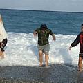 海浪過來了