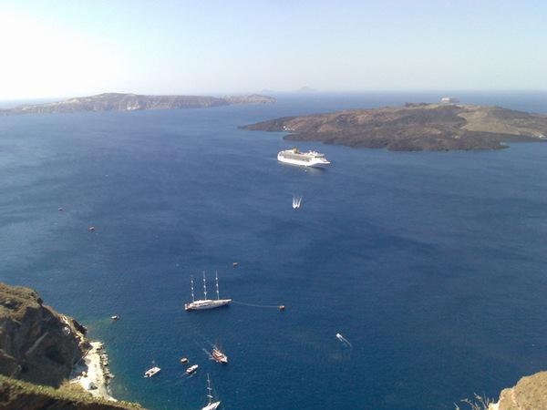 從Fira眺望愛琴海