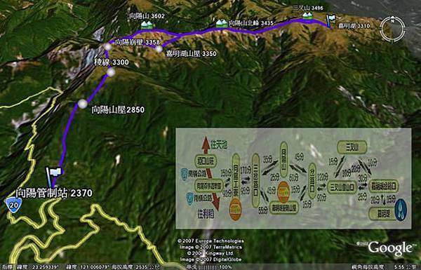 嘉明湖登山路線