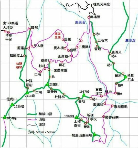 加里山地圖